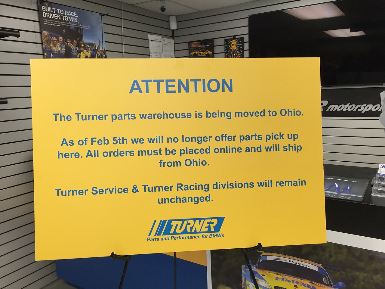 This says it all - by early 2016 ECS had gutted Turner Motorsport from the icon it once was. It was never going to be the same.