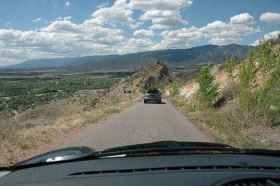 Descending the east side of Skyline Drive toward Canon City.