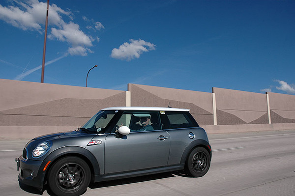 A group of Denver-area MINIs make their way to Colorado Springs, where we'll meet up with another group of MINIs. We take the boring (but fast) Interstate to get there.
