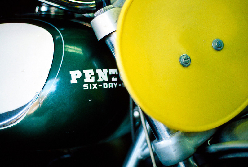 John Penton was one of the most influential figures in the development of off-road motorcycle racing in America during the 1960s and '70s. A national champion rider, Penton went on to develop a legendary brand of off-road motorcycles that bore his name. <br /> <br /> Seeing how competitive a lighter BSA was against Indians and Harleys in the grueling Jack Pine 500 Mile Enduro through the Michigan woods, he pioneered lightweight enduro biking.<br /> <br /> Taking off for Daytona in a still cold Ohio winter riding a 175cc NSU, Penton stopped off in Atlanta and won the Stone Mountain Enduro. From there he continued on to Florida and won the Alligator Enduro on the same bike he'd ridden from northern Ohio. Later that season, he continued riding the NSU to enduros across the Midwest and continued winning, including earning his first victory at the Jack Pine.<br /> <br /> Ultimately he got KMT in Germany to build a bike of his own design which sold 25,000 units like this one.