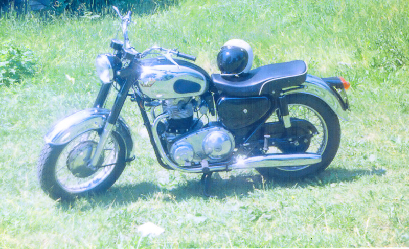 First big ride, the Maddening Matchless. <br /> <br /> When I picked it up on a Saturday in the summer of 1967, the shop guys told me to put 500 miles on it below 3000 rpm and bring back to the shop. I was there Monday morning, having driven the streets of Lansing/East Lansing until I ran out of gas sometime Sunday morning, pushing it home -- not for the last time -- pushing it to the gas station Sunday morning and riding all day.<br /> <br /> There was no bigger grin than 70 mph in third, coming up on the power curve and opening the Amals up. Frowns: parts falling off and the ease with which said Amals would flood if carelessly pumped by an artless right hand on starting, fouling plugs.<br /> <br /> The one touchstone of sanity in some sad, lonely days and sleepless nights in Columbus that summer, I would run the inner-belt for hours lapping the downtown until the sky began to lighten.