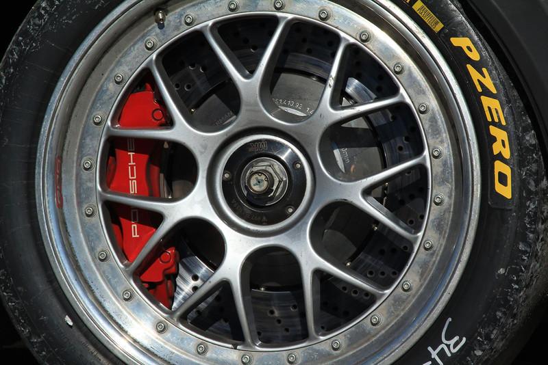 Wheel detail on a Porsche GT3.