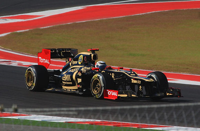 Finland's Kimi Raikkonen had obvious F1 skills before he had the necessary experience to meet the driver qualification rules. He was granted special permission from FIA at age 21 to drive Formula 1 cars. This is Kimi in a Lotus.
