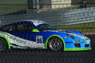 Porsce #96 in the GT3 class, which ran before the Formula 1 cars on Sunday.
