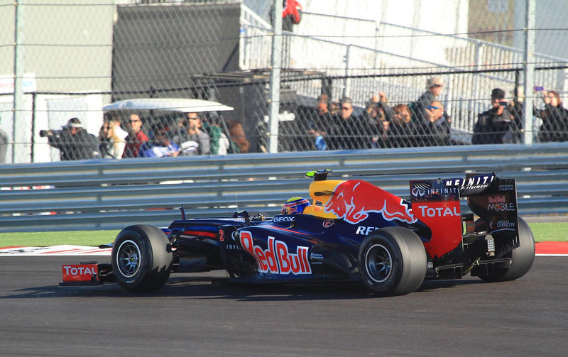 Mark Webber in turn one.