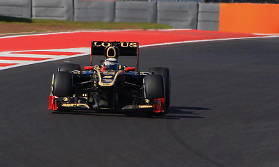 Popular Lotus driver Kimi Raikkonen of Finland made the pass of the day, an insanely skillful inside run out of turn one and side by side right thru the wicked and tight S turns.