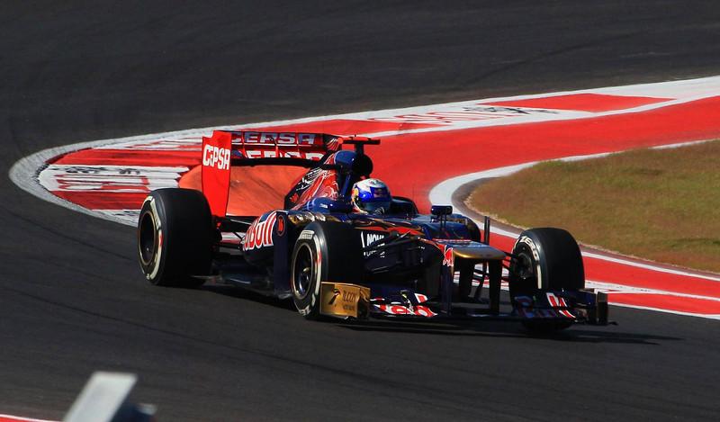 Daniel Ricciardo of the Toro Rosso team.