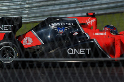 Timo Glock in the Marussia car.
