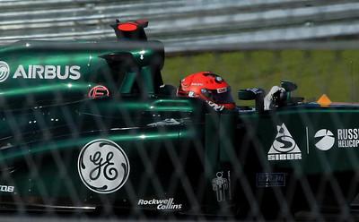 Caterham Team's Heikki Kovalainen.