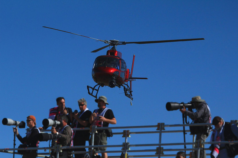 Network SkyCam helicopter.