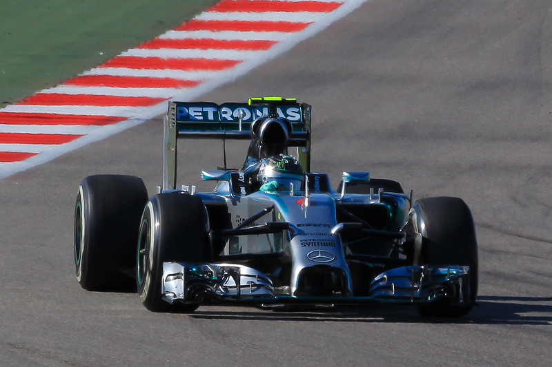 Nico Rosberg enters turn 11, a 50MPH hairpin.