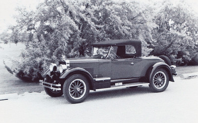 """Virgil also rebuilt this Rickenbacker. The Rickenbacker Motor Company was incorporated in July of 1921 when Barney Everitt asked Eddie Rickenbacker for the use of his name on the automobiles and named Eddie vice-president & director of sales for the company. Eddie Rickenbacker was the famous American WW 1 flying ace. The body was painted a green that I remember as similar to a British Racing green, with black fenders. I believe this is a 1926 B8 Roadster. Eddie Rickenbacker was an early race car driver who drove in the 1912, 1914,1915, and 1916 Indianapolis 500. He became a World War I """"Ace of Aces"""" fighter pilot and registered 26 kills. He won the Medal of Honor for his service. The Rickenbacker Motor Company was based in Detroit, Michigan from 1922 to 1928. For more history  visit the web site at rickenbackermotors.com"""
