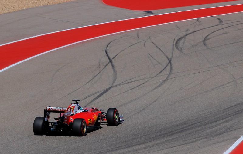 Sebastian Vettel leaving turn 5.