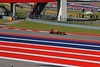 Wider angle view of the race course striping.