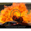 Inferno .... the following images show the car of Steve Owen being engulfed in flame as parts of the cars are still flying about.<br /> The car now almost disappearing into the fireball.<br /> Time on my camera 10:33.48.59