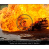 Inferno .... the following images show the car of Steve Owen being engulfed in flame as parts of the cars are still flying about.<br /> The car now almost disappearing into the fireball. Being in the car and looking out all windows and seeing nothing but fire would put a damp patch in the racing suit of even the most seasoned of drivers.<br /> Time on my camera 10:33.48.33