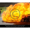 Inferno .... the following images show the car of Steve Owen being engulfed in flame as parts of the cars are still flying about.<br /> Time on my camera 10:33.48.16