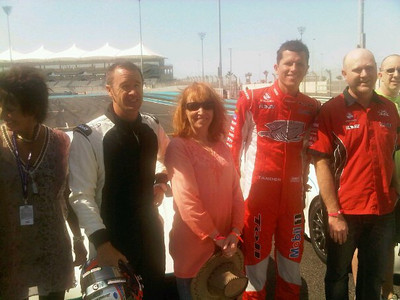WIth Greg Muphy and Garth Tander after the run in the Aston/