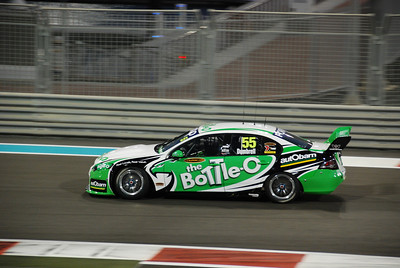 Paul Dumbrell's The Bottle-O Racing Ford Falcon during Race 2 on Saturday evening.