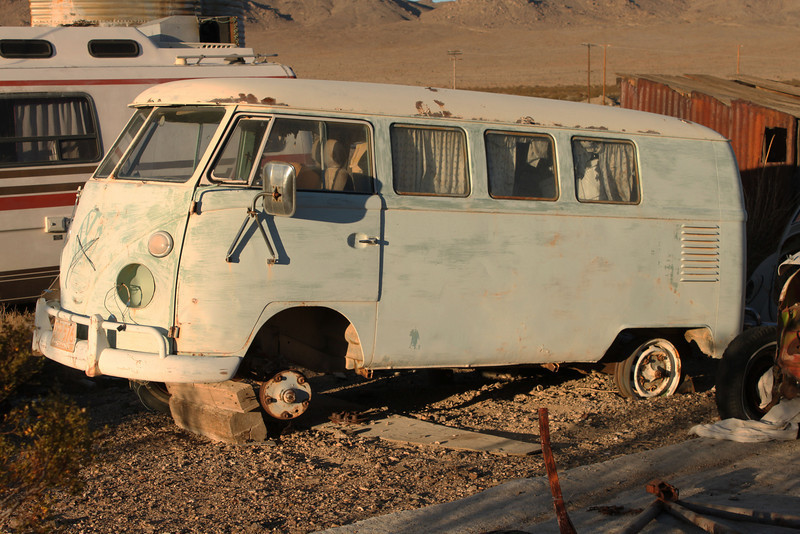 A man named Howard lived next to the Reeses for years and was known as a guru of  all things VW. When Howard died his vast collection of Volkswagen body and engine parts remained and is now protected by the Reeses. This old bus is one of many complete carriages on the property.