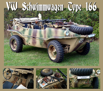 I aquired this 1944 VW Type 166 Schwimmwagen on the 14th August 2006, the previous year it had completed an extensive 4 year ground up restoration.