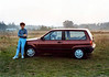 As a second year medical student I had big hair and an almost new 1992 VW Polo CL - 1.3L, 55hp. I loved that deep color and the car was so nimble.