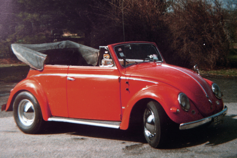 1956 Convertible 151, Connecticut.  Owned by me 1969-1970 (this picture June 1970).   It had reverse-rim Chevy wheels in the back, and Porsche 356 wheels in the front.