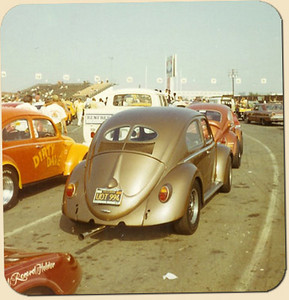 1951 sedan at the 'Bug-in', Orange County International Raceway (California), 1968.