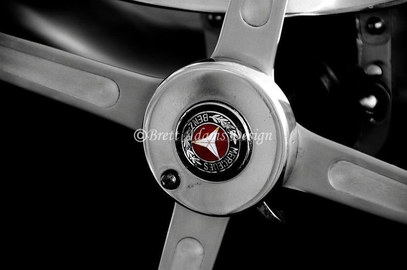 1939 Mercedes Benz W154 - Steering Wheel Center Cap<br /> Vintage Fest 2009 Limerock Park. Limerock,CT