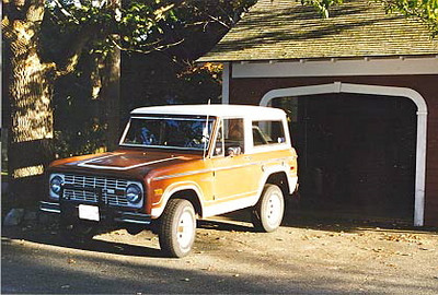1975 Ford Bronco.  Simple style for a truck.