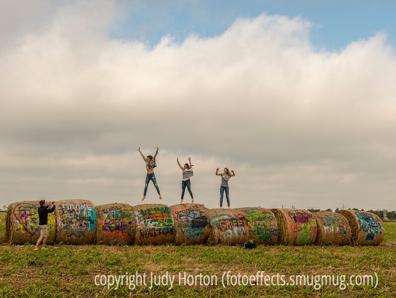 Fun with Bales of Hay