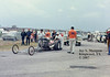 Prudhomme to staging lanes, Tulsa World Finals, October 1967. Lou Baney and Ed Pink were the other key players in this effort.