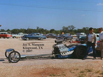 Dan Rightsell's fuel dragster. Taken at Green Valley Raceway in 1965 or 1966.