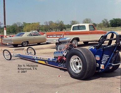 Tom McEwen, Dallas Int'l Motor Speedway, 1969 NHRA Springnationals.