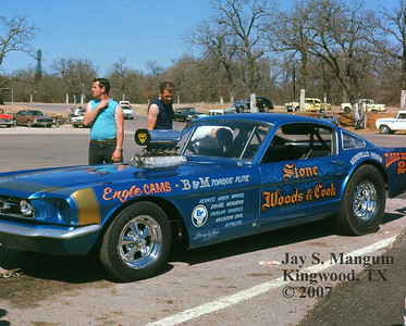 Stone Woods Cook Funny car, Green Valley, 1966 match race
