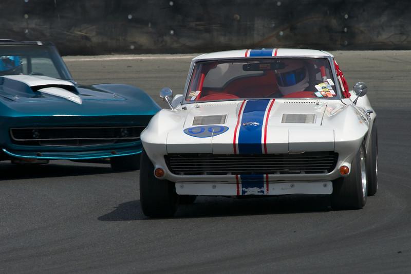 Dan Payne in his #00 1963 Corvette in turn eleven Saturday afternoon.