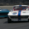 Dan Payne in his #00 1963 Corvette in turn eleven Saturday afternoon.