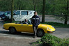 Neef Mark voor de Spider van zwager Ron. Spider was vandaag ook uit de garage gehaald voor een tochtje. Nog even met de twee auto's kort ritje gemaakt.