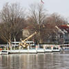 Back in Vermilion for me...the large crane is lifting the floating docks out for the Winter.