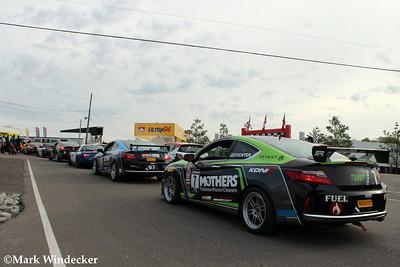 Pre race grid