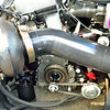 Front of engine. External oil pump driven off front of crankshaft.