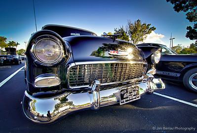 Wellington Car show: 1955 Chevy Belair. A black beauty.