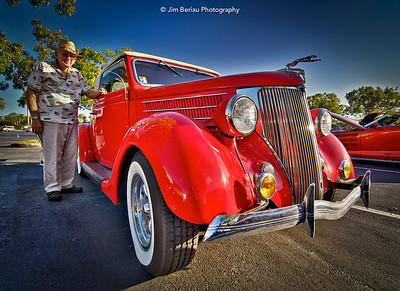 Old man and his car in Wellington, Florida.