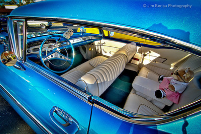 Wellington car show: interior of this 1958 Chevy.