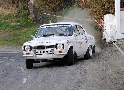 West Cork Rally 2010, Historics Winner ,No. H15 Escort Mk1, Driver: Ed Murphy, Navigator: John Hickey fron Killarney. Picture taken on Saturday 20th at Ring Stage 7