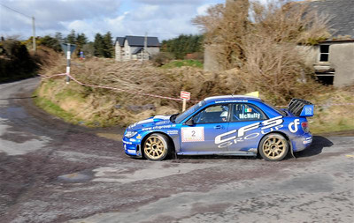 West Cork Rally, Overall Winner car No.2 Impreza WRC, Driver: Tim McNulty Navigator: Paul Kiely from Summer Hill. Picture taken on Sunday 21st at Sam's Cross Stage 10