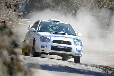 West Cork Rally, car No.45 Impreza, Driver:Sean O'Donovan, Navigator:Harold Atkinson, from Bandon. Picture taken on Sunday 21st at  Hayes's Cross Stage 14