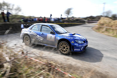 West Cork Rally, OVERALL WINNER car No.2 Impreza WRC, Driver: Tim McNulty Navigator: Paul Kiely from Summer Hill. Picture taken on Saturday 20th at Ring Stage 5