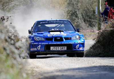 West Cork Rally, Overall Winner car No.2 Impreza WRC, Driver:Tim McNulty, Navigator:Paul Kiely, from Summer Hill. Picture taken on Sunday 21st at  Hayes's Cross Stage 14