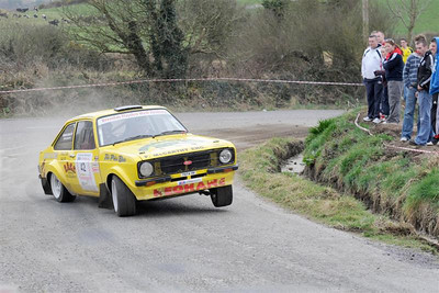 West Cork Rally 2010, car no.42 Escort Mk2, Driver:Diarmuid Keohane,   Navigator:Peter Keohane, from Clonakilty